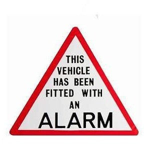 This Vehicle Has Been Fitted With An Alarm.... Taxi Sticker - Taxi-Mart Shop