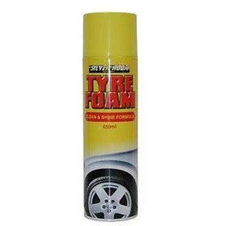 2 x Silverhook Tyre Foam/Foam Cleaner 650ml Aerosol Spray Can - Taxi-Mart Shop