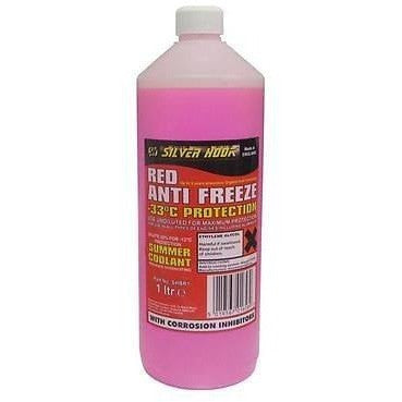 Silverhook Ready Mixed Red Antifreeze & Summer Coolant [OAT] -33°C - 1 Litre Bottle [SHBR1] - Taxi-Mart Shop