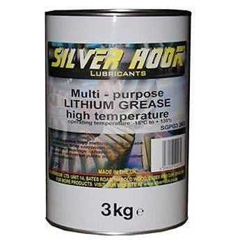 Silverhook Lithium Grease EP2 High Temperature Grease 3kg - Taxi-Mart Shop