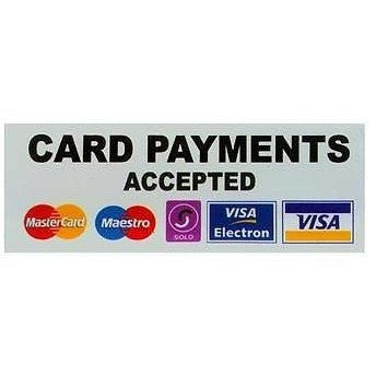 Card Payments Accepted.... Taxi Sticker - Taxi-Mart Shop