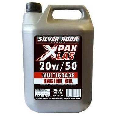 Silverhook Classic Car Engine Oil [X-PAX] 20w/50 Multigrade 4.54 Litres API SC/CB [SHLA5] - Taxi-Mart Shop