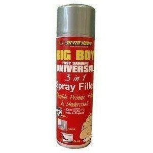 12 x Silverhook Big Boy Grey Flexible Primer Filler [3 In 1] - 500ml Aerosol Spray Can - Taxi-Mart Shop
