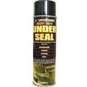 12 x Silverhook Underseal Black 500ml Aerosol Spray Can - Taxi-Mart Shop