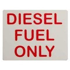 Diesel Fuel Only... Red Sticker For Taxis, Cars, Vans, Lorries HGV - Taxi-Mart Shop