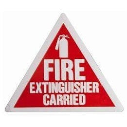 Fire Extinguisher Carried... Taxi Sticker - Taxi-Mart Shop
