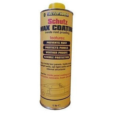 Silverhook Clear Schutz Wax Rustproofing For Cars 1 Litre Can For Schutz Gun - Taxi-Mart Shop