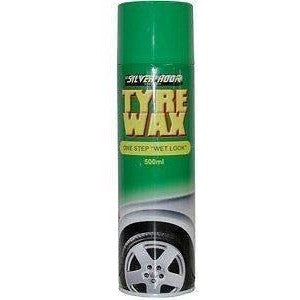 12 x Silverhook Tyre Wax Wet Look Tyre Shine/Cleaner 500ml Aerosol Spray Can - Taxi-Mart Shop