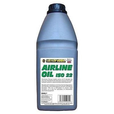 Silverhook SHAL1 Airline Oil ISO22 For Workshop Tools And Air Lines 1 Litre - Taxi-Mart Shop