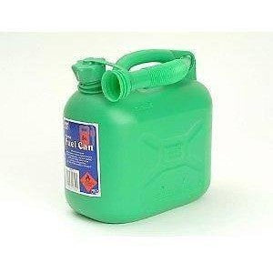 Petrol Can and Spout Green Plastic 5 Litre for Unleaded Petrol - Taxi-Mart Shop