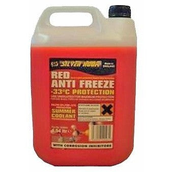 Silverhook Ready Mixed Red Antifreeze Summer/Coolant-56°C [OAT] 4.54 Litre [SHBR4] - Taxi-Mart Shop