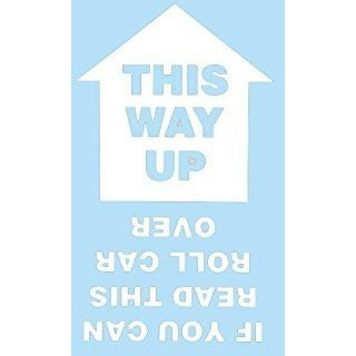 This Way Up... Vinyl Graphic For Bodywork or Windows WHITE - Taxi-Mart Shop