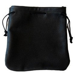 Cab Driver/Taxi Driver Drawstring Pouch Black Leather - Large - Taxi-Mart Shop
