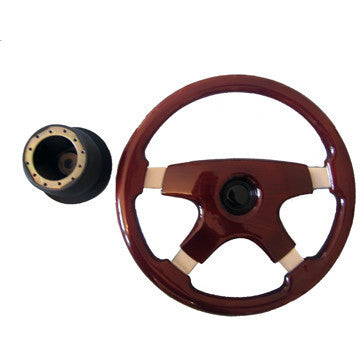 4 Spoke Wooden Steering  Wheel - Taxi-Mart Shop