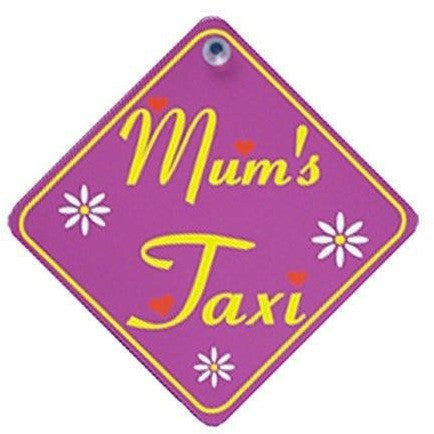 Castle MUMS TAXI Diamond Hanging Car Window Sign - Taxi-Mart Shop