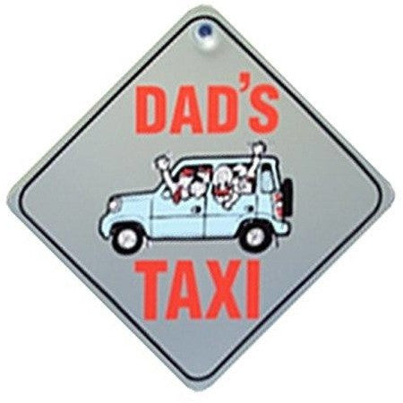 Castle DADS TAXI  Diamond Hanging Car Window Sign - Taxi-Mart Shop