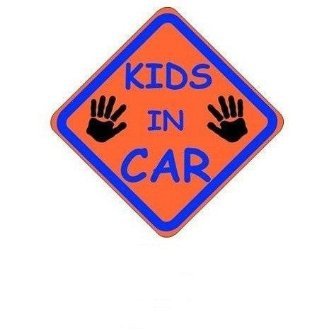 Castle KIDS IN CAR Diamond Hanging Car Window Sign - Taxi-Mart Shop