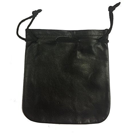 Cab Driver/Taxi Driver Drawstring Pouch Black Leather - Small - Taxi-Mart Shop