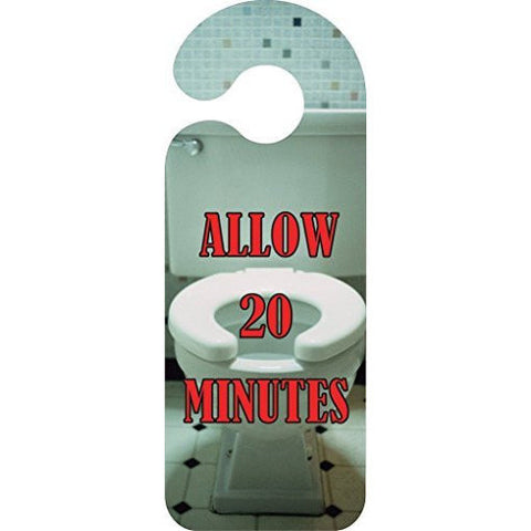 Allow 20 Minutes Door Hanger Sign ... - Taxi-Mart Shop