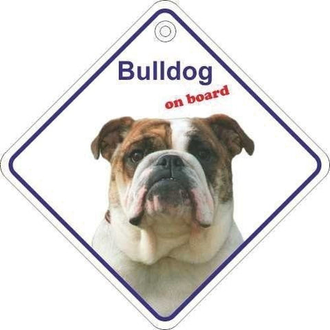 Bulldog On Board Diamond Car Window Hanger - Taxi-Mart Shop