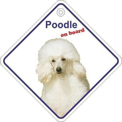 Poodle On Board Diamond Car Window Hanger - Taxi-Mart Shop
