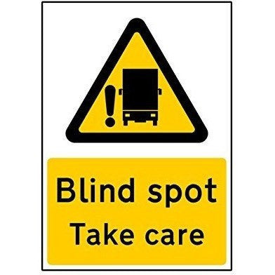 Blind Spot Take Care Self Adhesive Vinyl Sticker (Large) - Taxi-Mart Shop