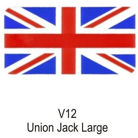 Union Jack Flag Sticker Large - Taxi-Mart Shop