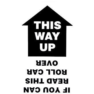 This Way Up... Vinyl Graphic For Bodywork or Windows BLACK - Taxi-Mart Shop