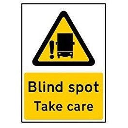 Blind Spot Take Care Self Adhesive Vinyl Sticker (Small) - Taxi-Mart Shop