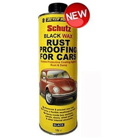 12 x Silverhook Black Wax Coating 1 Litre Can For Schutz Gun (Inside Body Protection) - Taxi-Mart Shop
