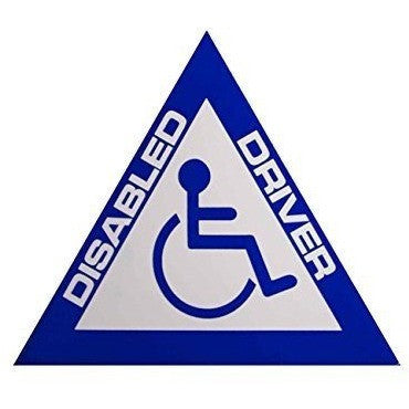 Castle DISABLED DRIVER Triangle Sticker Accessories Styling Graphics Pinstripes V295 - Taxi-Mart Shop