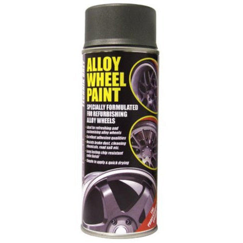 Anthracite Technik Grey E-TECH Alloy Wheel Paint Chip Resistant Wheel Refurb 400ml Can - Taxi-Mart Shop