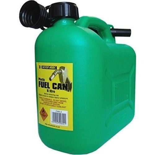 S Style Unleaded Petrol Can and Spout Green 5 Litre - Taxi-Mart Shop