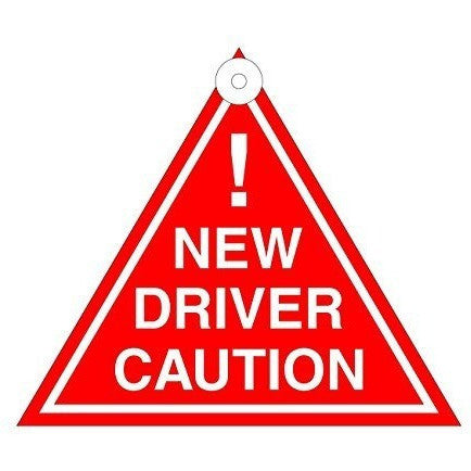 New Driver Caution Hanging Car Window Decal/Sign - Taxi-Mart Shop
