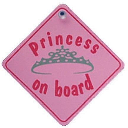 Castle PRINCESS ON BOARD Diamond Hanging Car Window Sign DH17 - Taxi-Mart Shop