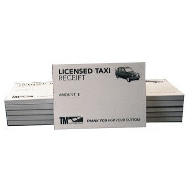 Licensed Taxi Receipt Pads (50 Sheets Per Pad) For All Black Cab Drivers and London Cab Drivers - Taxi-Mart Shop
