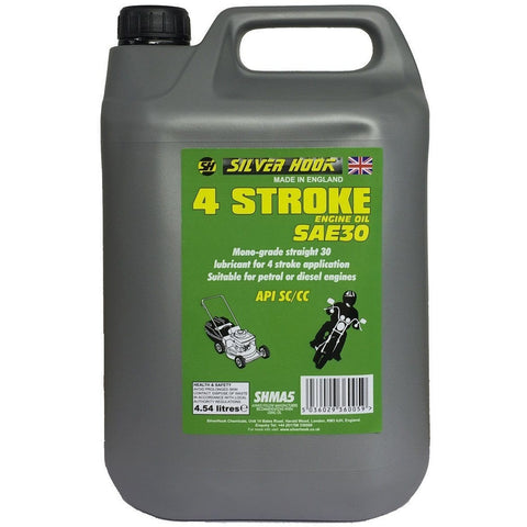 Silverhook 4 Stroke Engine Oil/Lubricant [SAE30] 4.54 Litres SHMA5 - Taxi-Mart Shop