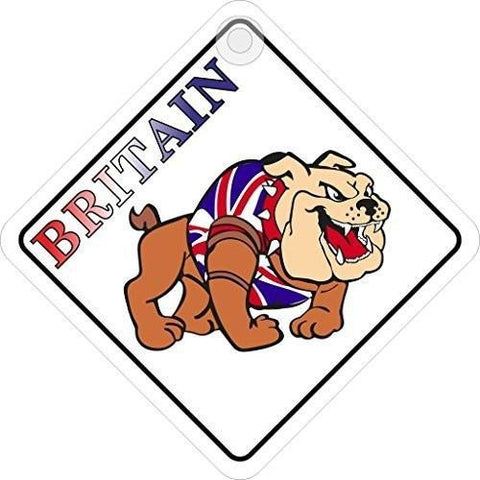 British Bulldog Diamond Hanging Car Window Sign - Taxi-Mart Shop