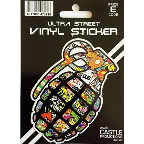 Castle Promotions Stickerbomb Hand Grenade Decal ... - Taxi-Mart Shop