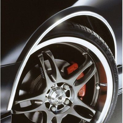 E-Tech CHROME Car Wheel Arch Guard Paintwork Protector 5 Meters Adhesive Roll - Taxi-Mart Shop