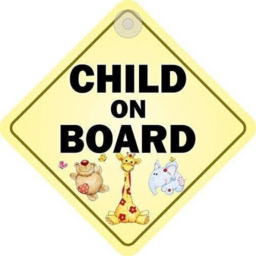 Child On Board Diamond Hanging Car Window Sign - Taxi-Mart Shop