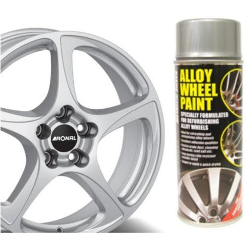 E-TECH Metallic Silver Alloy Wheel Paint Chip resistant Wheel refurb 400ml Can - Taxi-Mart Shop
