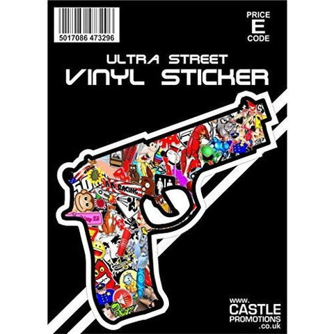 Castle Promotions Stickerbomb Pistol Decal ... - Taxi-Mart Shop