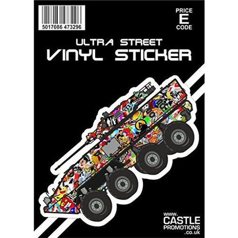Castle Promotions Stickerbomb Tank Decal ... - Taxi-Mart Shop