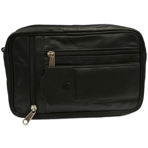 Taxi Driver Bag Black - Single Compartment Genuine Leather Taxi Driver Money Bag [531] - Taxi-Mart Shop