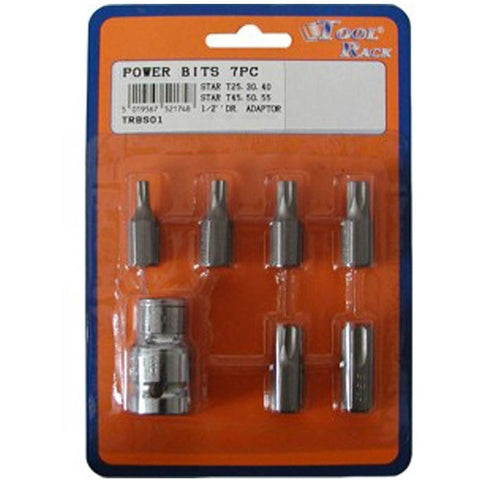 Power Star Bit Set With ½ Inch Drive Adaptor TRBS01 - Taxi-Mart Shop