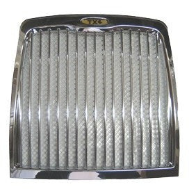 TX4 Chrome Front Grille - For All Early LTI TX4 Taxis [Early Type Oval Badge] - Taxi-Mart Shop