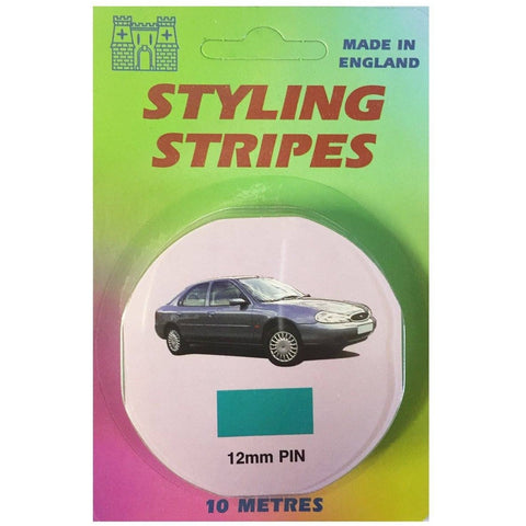 12mm Solid Styling Stripe Pinstripe Aqua Blue - Taxi-Mart Shop