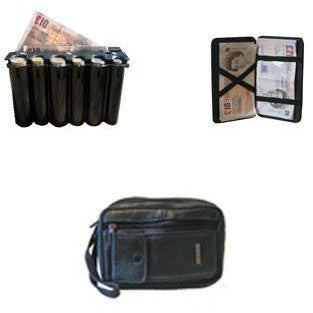 Taxi Driver Leather Money Bag, 2 Way Wallet And Large Black Coin Dispenser - Taxi-Mart Shop