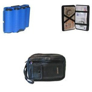 Blue Coin Holder, Magic Wallet And Leather Taxi Driver Money Bag - Taxi-Mart Cash Combo 'B' - Taxi-Mart Shop
